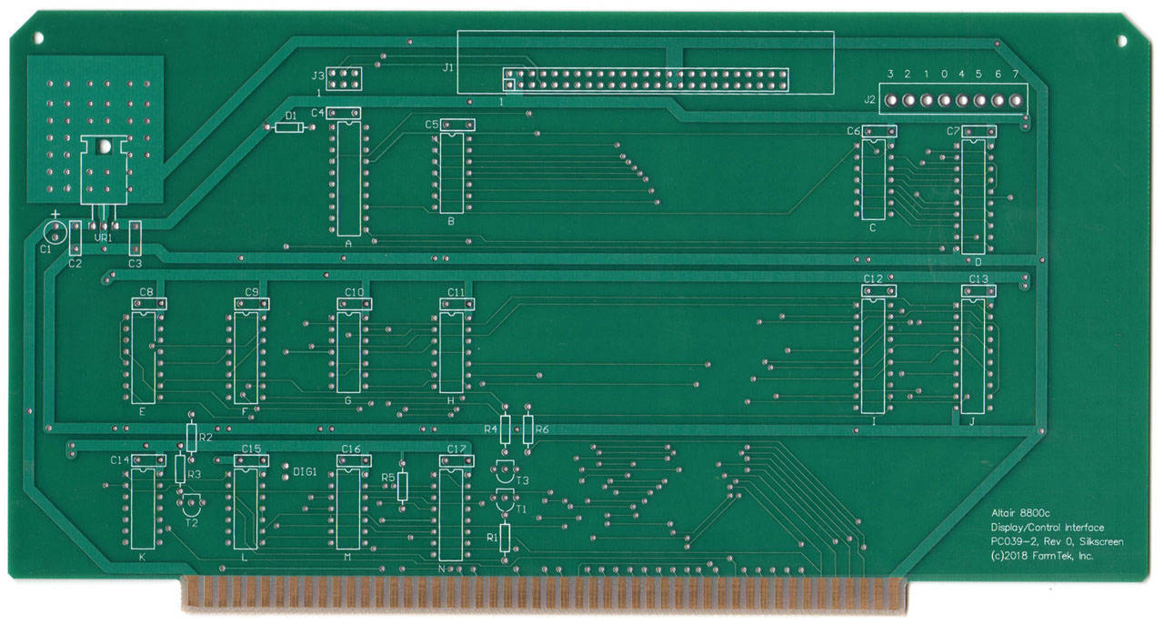 Front panel interface PCB - front